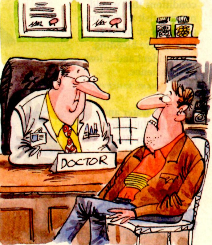 Funny Cartoon At The Doctors Office