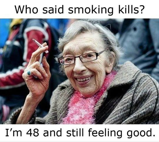 Funny Cartoon Old Women Smoking