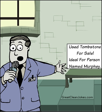 Used tombstone for sale! Ideal for man named murphy.