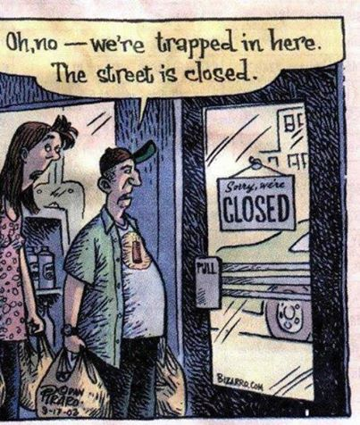 We're locked out cartoon
