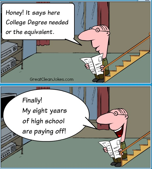 Flunking High School Cartoon