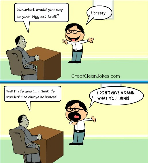 Funny Job Interview Cartoon
