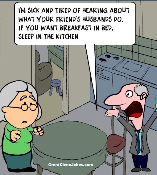 Breakfast In Bed Funny Cartoon