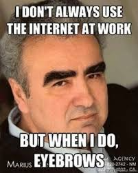 I don't always use the internet at work but when I do eyebrows.