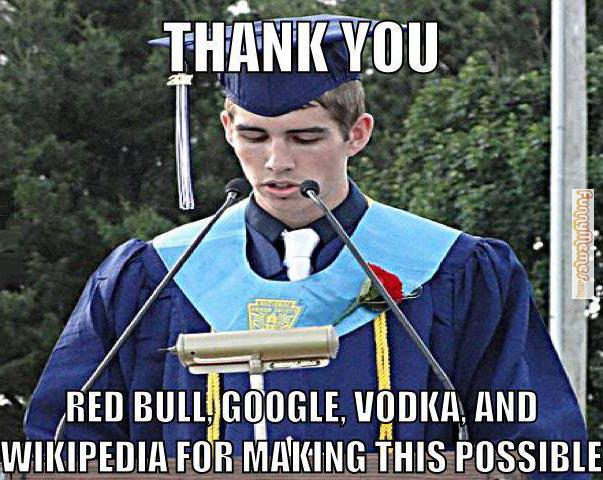 Thank You. Red Bull Google Vodka and wikipedia for making this possible.